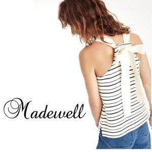 MADEWELL Texture & Thread Stripe bow-back tank M